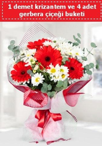 Krizantem ve Gerbera Buketi  Bursa çiçek gönder nilüfer çiçek siparişi vermek