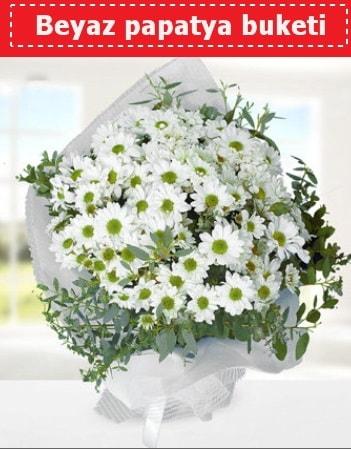 Beyaz Papatya Buketi  Bursa çiçek siparişi karacabey 14 şubat sevgililer günü çiçek