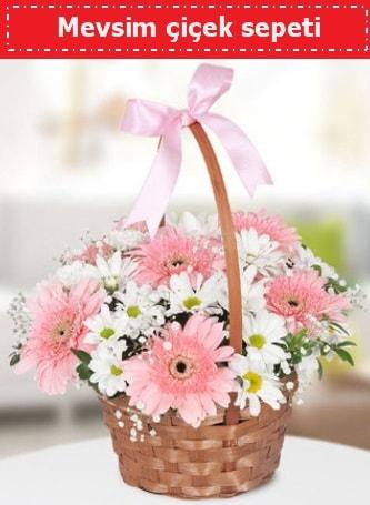 Mevsim kır çiçek sepeti  Bursada çiçekçi osmangazi çiçek , çiçekçi , çiçekçilik