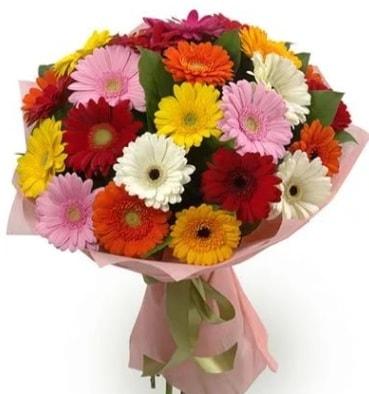Karışık büyük boy gerbera çiçek buketi  Bursaya çiçek yolla orhangazi çiçek satışı